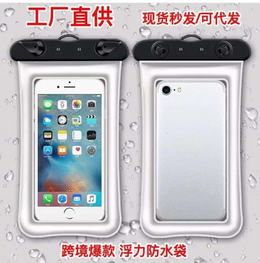 شاشة لمس الشاشة ماء شفافة نفخ حالة السباحة العائمة مختومة حقيبة الهاتف المحمول