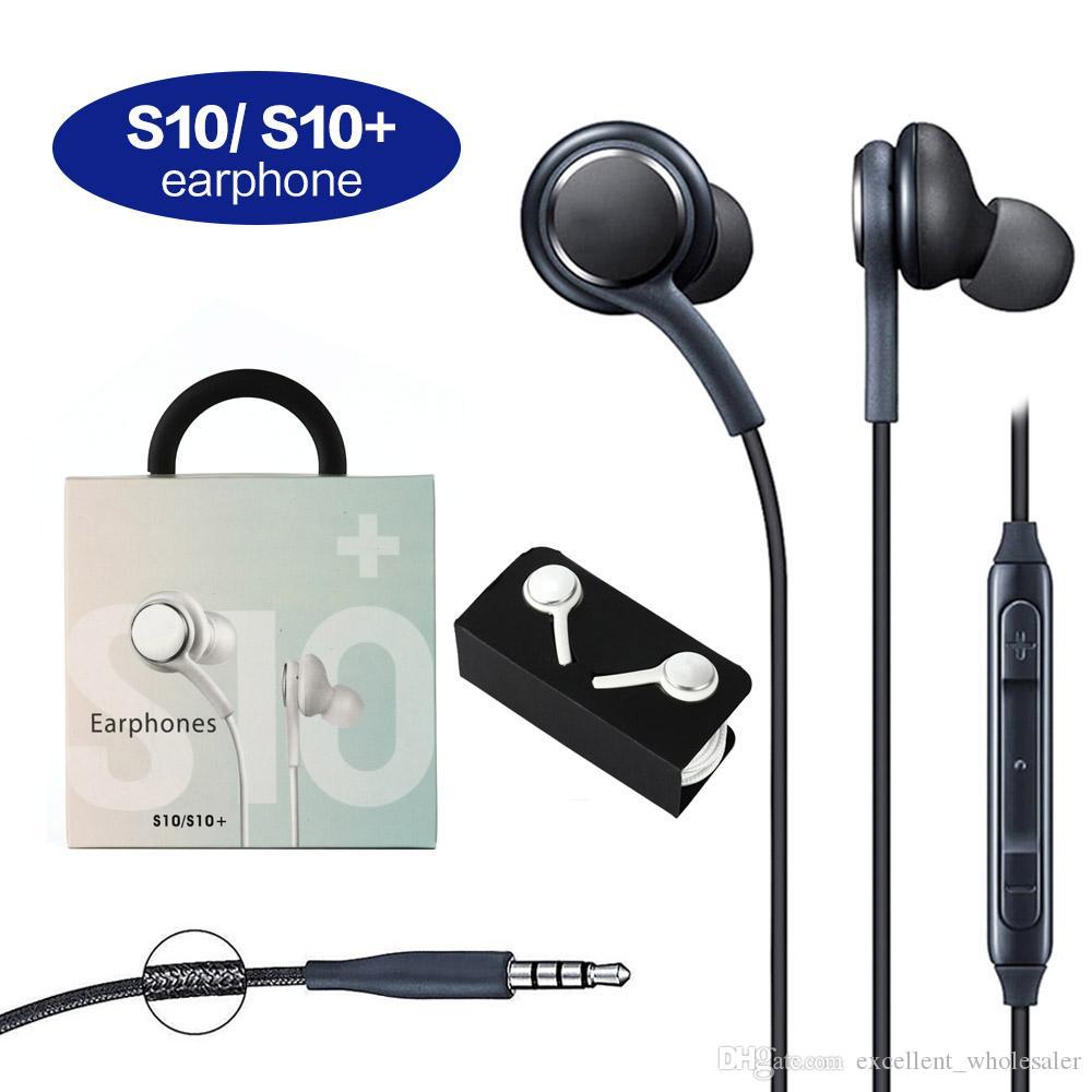 Гарнитура наушников S10 для Samsung Galaxy S8 S9 S10 Примечание 6 7 8 Наушники Bass Headsets Наушники Стерео Звуковые наушники в коробке