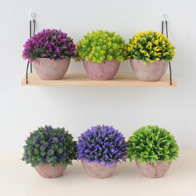 Piante di erba artificiale Bonsai casa giardino camera da letto camera da letto balcone decorazione festa piccola in vaso plastica ornamento ornamento accessori da giardino