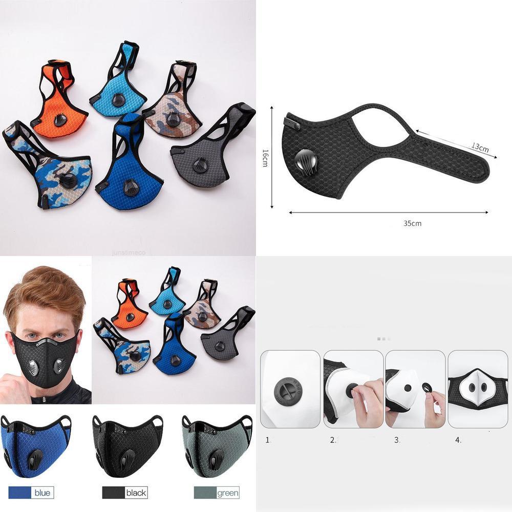 Staub Reitmaske Kohlenstoff Outdoor Laufmaul Abdeckung Anti Anti-Nebel Männer Frauen Erwachsene Radfahren Gesichtsmaske Fahrrad Staubfest Sport FO01