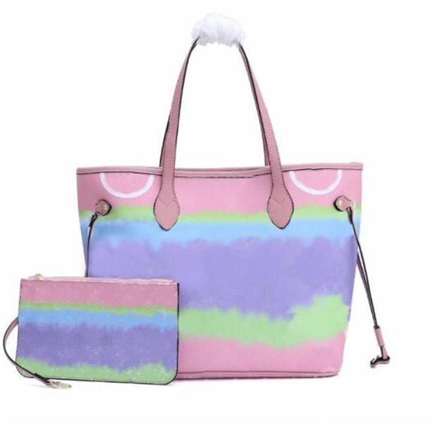 Сумка Классическая мода Одно плечо Среда Женская сумка Satchle Trend Дизайн Кошелек из двух частей набор