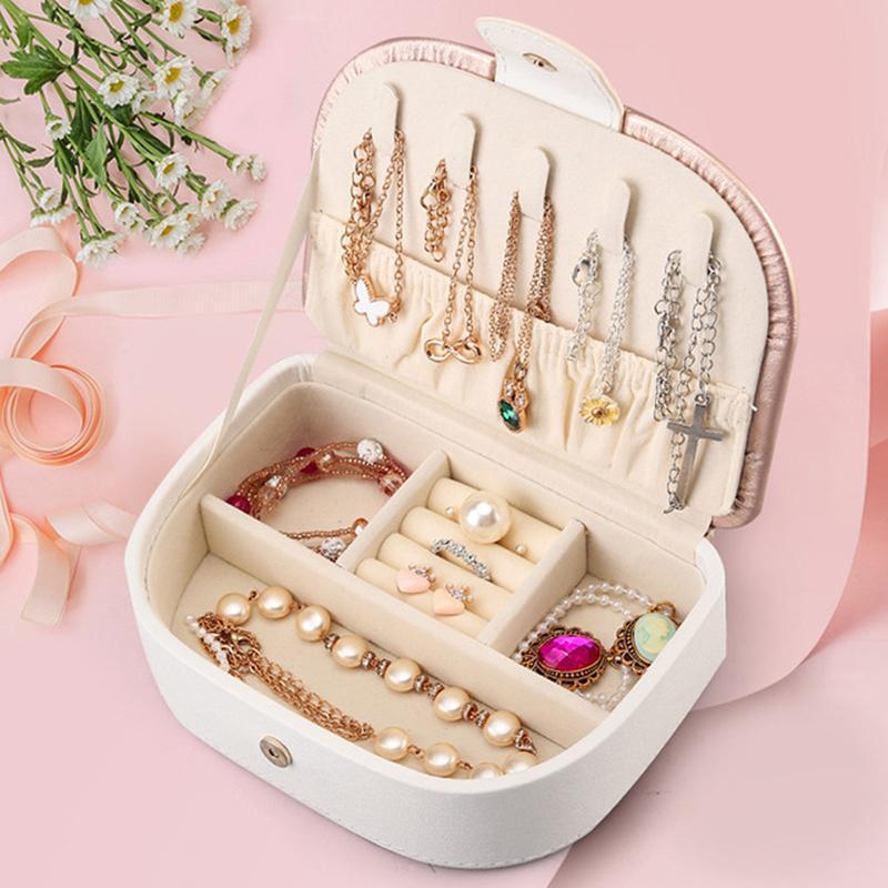 Joyas de almacenamiento Caja Pendientes Anillo Collar Caso Jewel Packaging Travel Cosmetics Beauty Organizer Contenedor Caja
