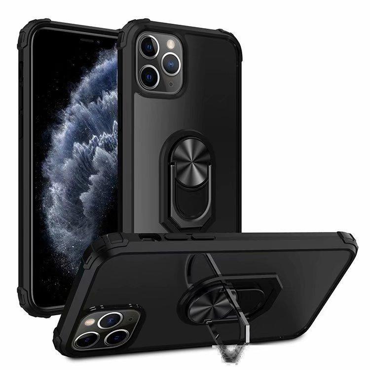 Étui de téléphone portes-papiers magnétique pour iPhone 12 11 PRO Max XR XS XS XS Titulaire du support de stand Clear Case pour iPhone SE 7 8 Plus 6S 6
