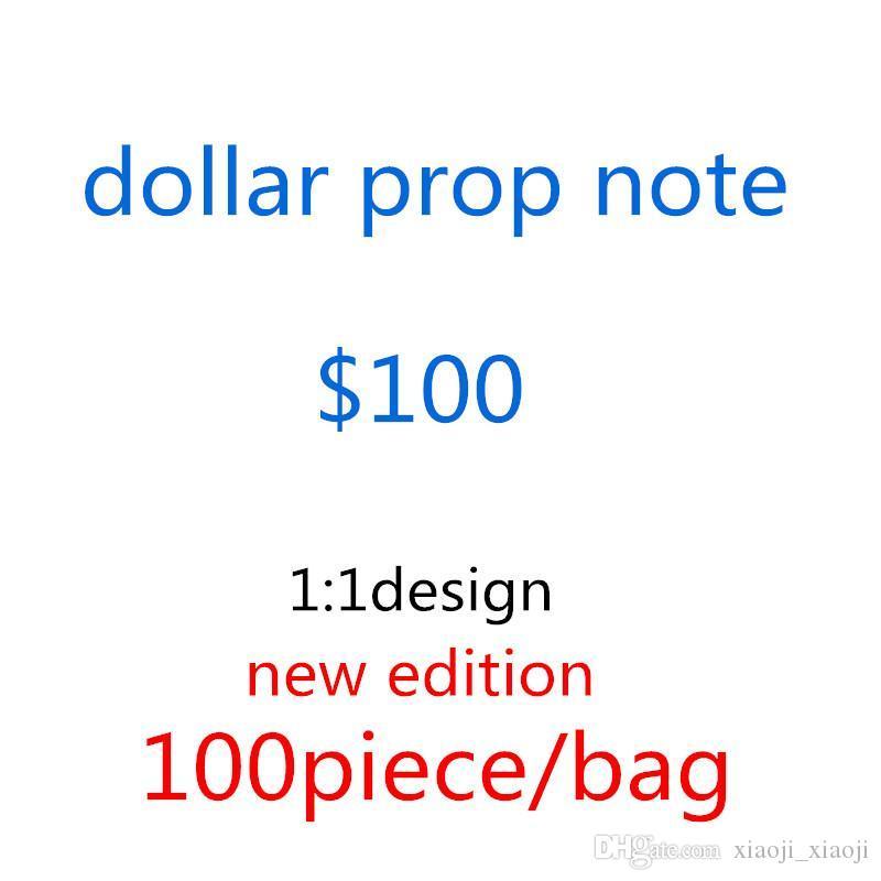 Gefälschte Geld Banknote Geld Geld 100 Spielen USD Spielzeug Größe Dollar Taschen-F8 Banknote Kinder Geschenk Prop Movie Normal Creative WDWHX