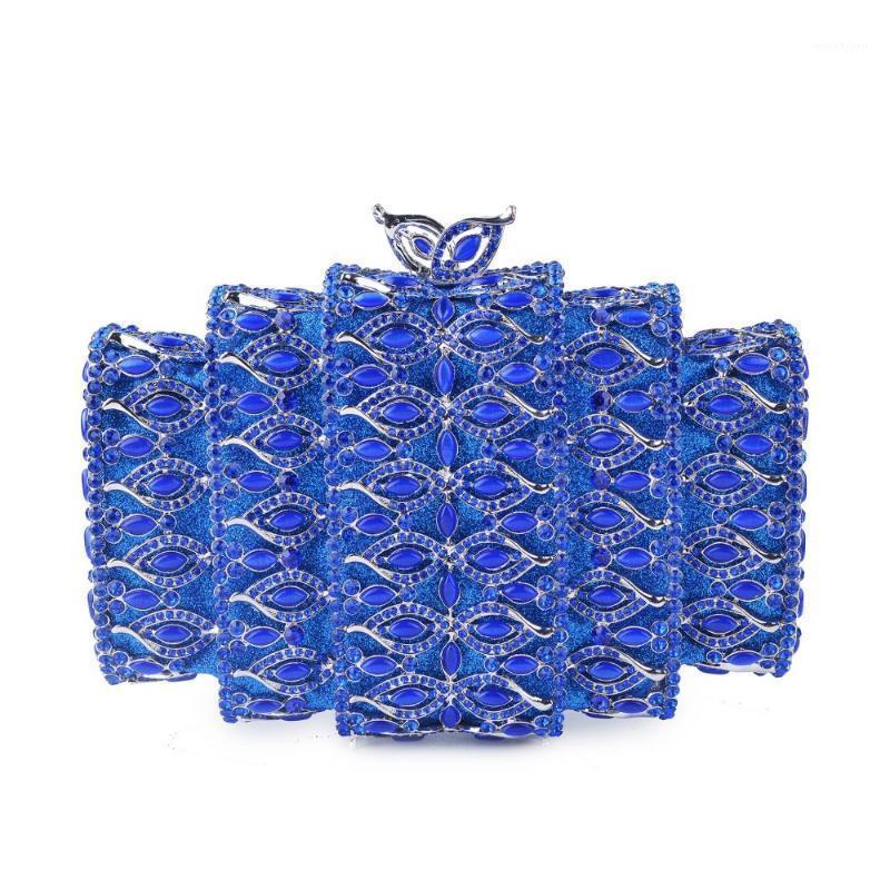 Blau / Grün / rot / lila Kristallkupplung Tasche Frauen Hochzeit Kupplung Kleine Geldbörse Abend Party Mode Handtaschen Gold Silber Handtasche1