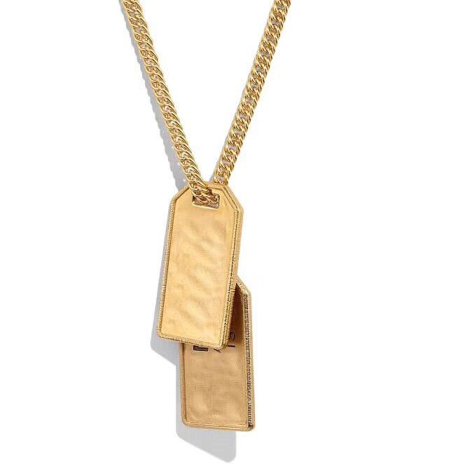 Haben Briefmarken Mode Halskette der Frauen der Männer Partei-Liebhaber Geschenk Hip-Hop-Schmuck mit Box