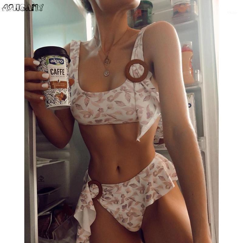Ashgaily 2020 New Sexy Print Bikini Swimwear Frauen Badeanzug Push Up Biquini Hohe Taille Bikini Set Strandkleidung Badeanzug Sommer1
