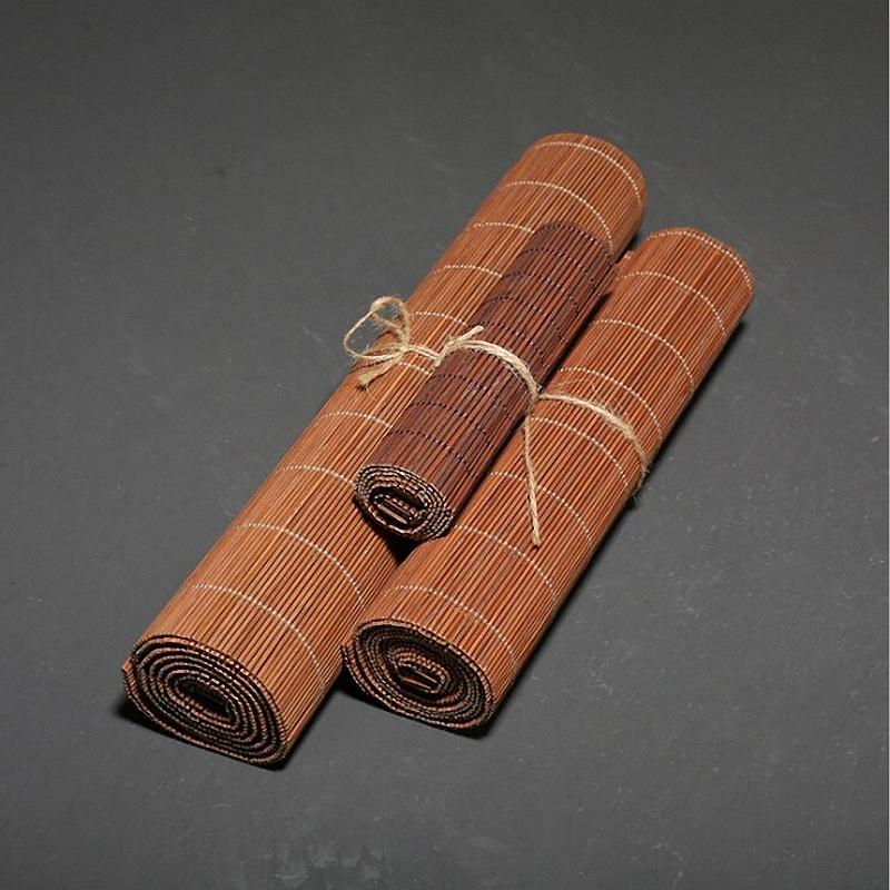 PINNY Natural Bamboo Tea Mats Chinese Kung Fu Tea Accessories Tea Ceremony Decorations Hand Made Bamboo Placemats C1210