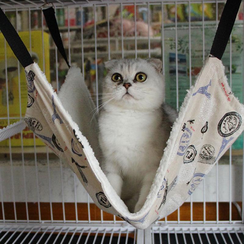 Nuevos productos para mascotas Cama de gato cálida Hamaca de mascotas para la casa de descanso del gato Casa de hurón suave y cómoda # 86720