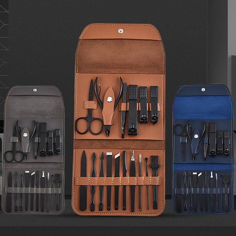 2021 16 قطعة / المجموعة مانيكير مجموعة باديكير مقص الملقط سكين الأذن اختيار فائدة مسمار المقص كيت، الفولاذ المقاوم للصدأ مسمار العناية أداة مجموعة