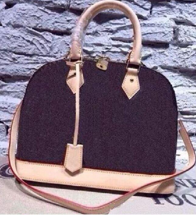 Frauen Handtaschenschloss Bb Shell Bag Top Griff Umhängetaschenkette Messenger Bags Lackleder