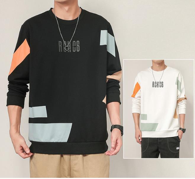 Moda Kazak Yüksek Sokak Süveter erkek Hoodies Gevşek Polar Siyah Sonbahar Kış Gevşek Çift Moda Tişörtü Güz Tops