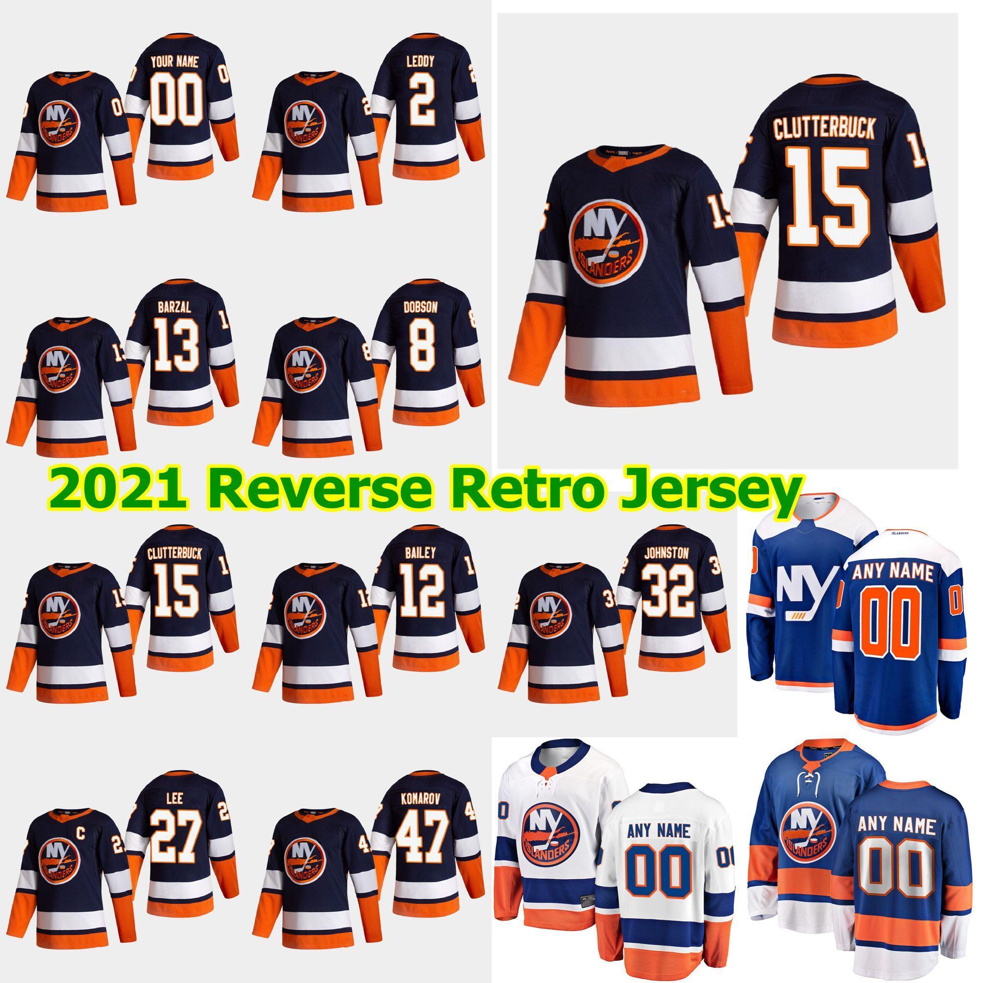 New York Islanders 2021 Retro Retro Hockey Jersey 2 Nick Leddy Jersey Scott Mayfield Casey Cizikas Michael Dal Colle Adam Pelech Custom
