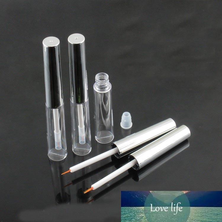 30/50 pcs 8 ml Tubo de delineador de plástico transparente com tampa de prata, pestanas cosméticas garrafa de cola, beleza cílios de crescimento líquido pacote