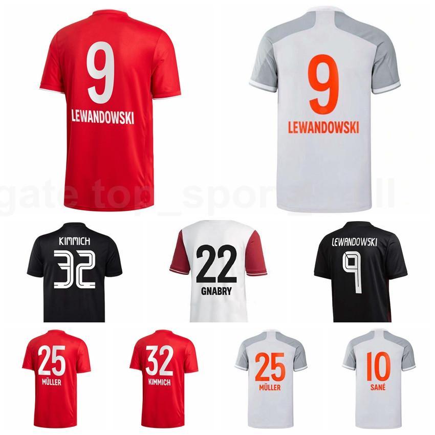 الرجال Soccer 9 Lewandowski Jersey 7 Gnabry 25 Muller 32 Kimmich 10 Coutinho 18 Goretzka 19 Davies 5 Pavard كرة القدم قميص أطقم B-R