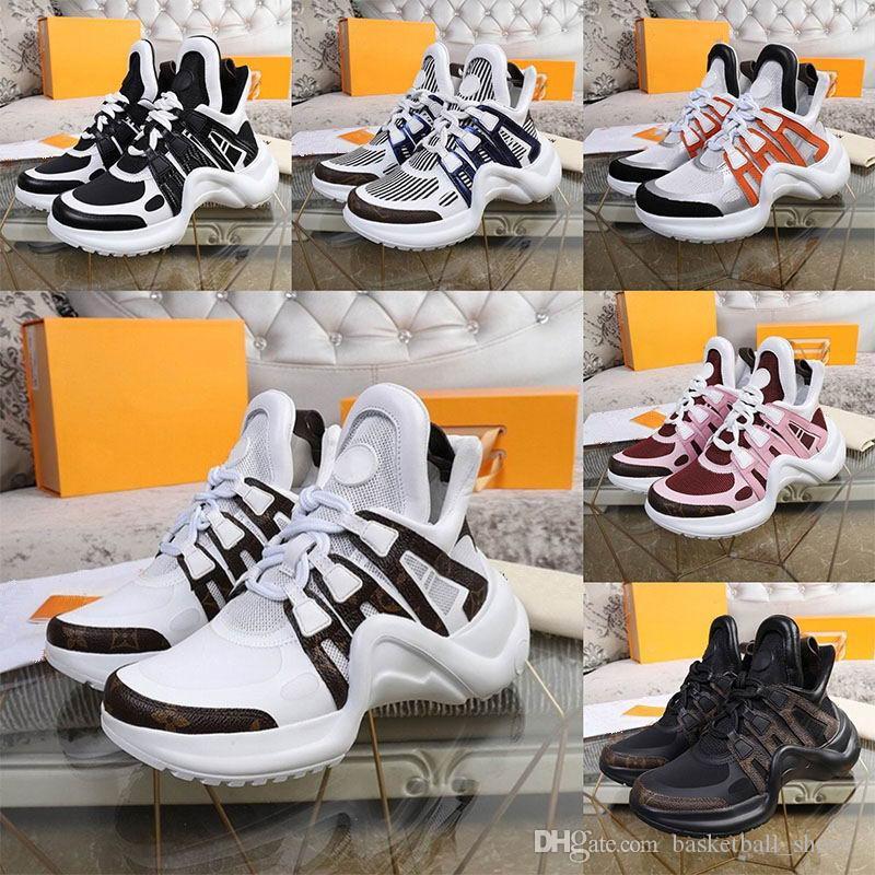 Luxurys designers sapatos genuínos homens de couro e mulheres padrão casual branco azul superfície luz respirável alta top sneakers velocidade treinadores de velocidade