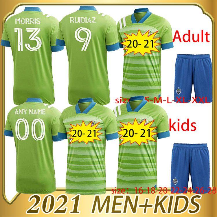 2020 2021 Top Seattle Sounders Jersey FC Soccer 20 21 Joao Paulo Uniforme Mens + Enfants # 7 Roldan Rudidiaz Lodéiro Football Shirt