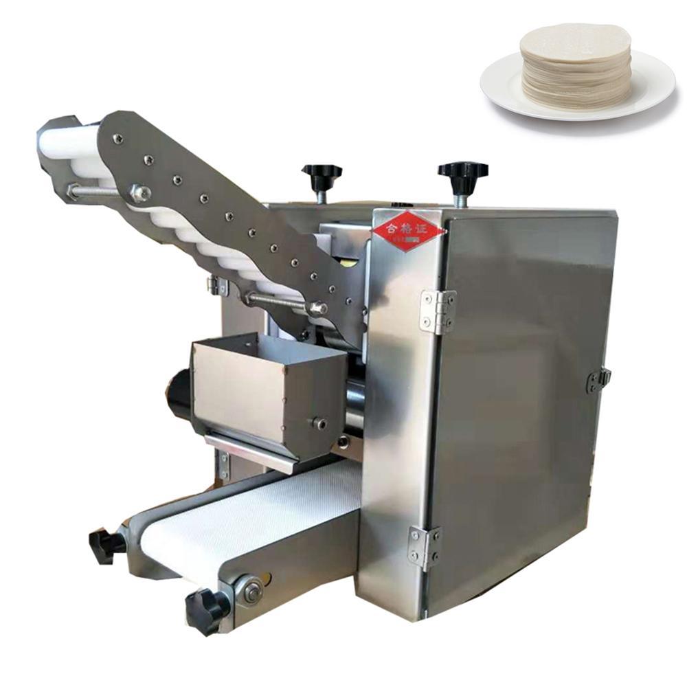 2021 best factory price tabletop automatic pizza/wonton dough skin making machine/dumpling gyoza wrapper machinedumpling skin machine220v