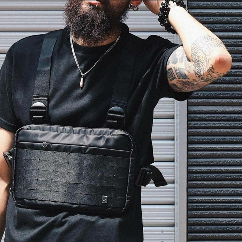 Alyx Chest Rig Bag Streetwear Waist Bag Black Hip Hop Fanny Pack Men Adjustable Tactical Streetwear Chest Bags Kanye Waist Packs S4qG#
