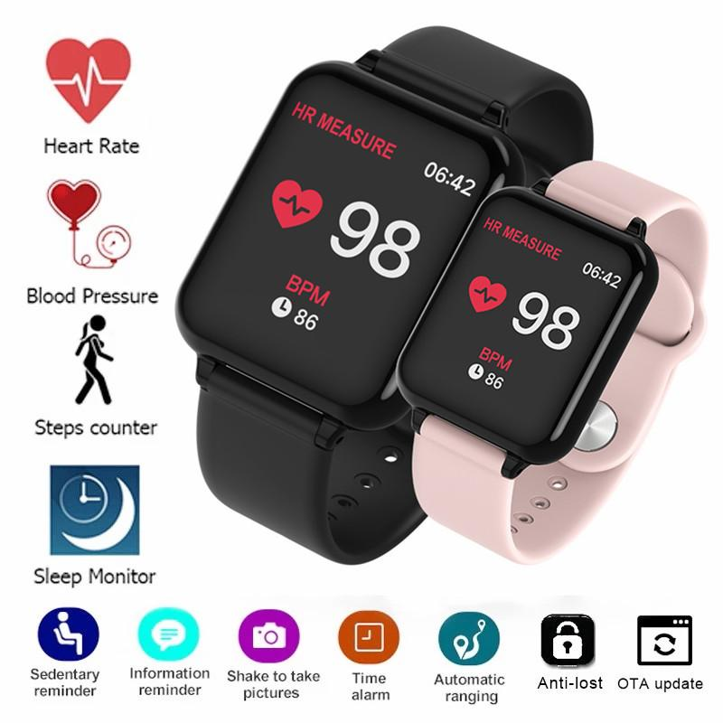 2020 Smartwatch With Strap Smart Watches Men Women Blood Pressure Heart Rate Monitor Bluetooth Fitness Watch Smart Bracelet For Android IOS