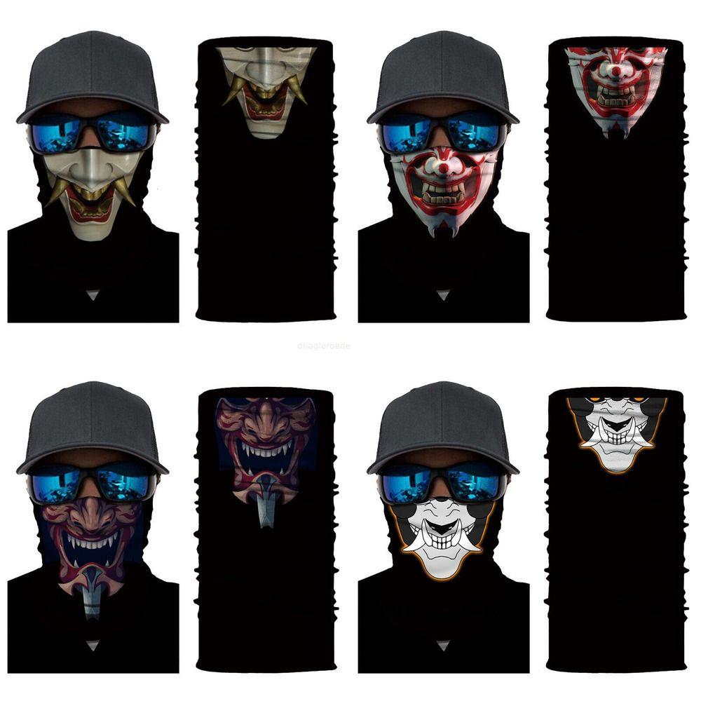 Maske Motosiklet Yüz 3D Başkanı Rüzgar Geçirmez Sürme Sihirli Eşarp Kafatası Kayak Balaclava Erkekler Kadınlar