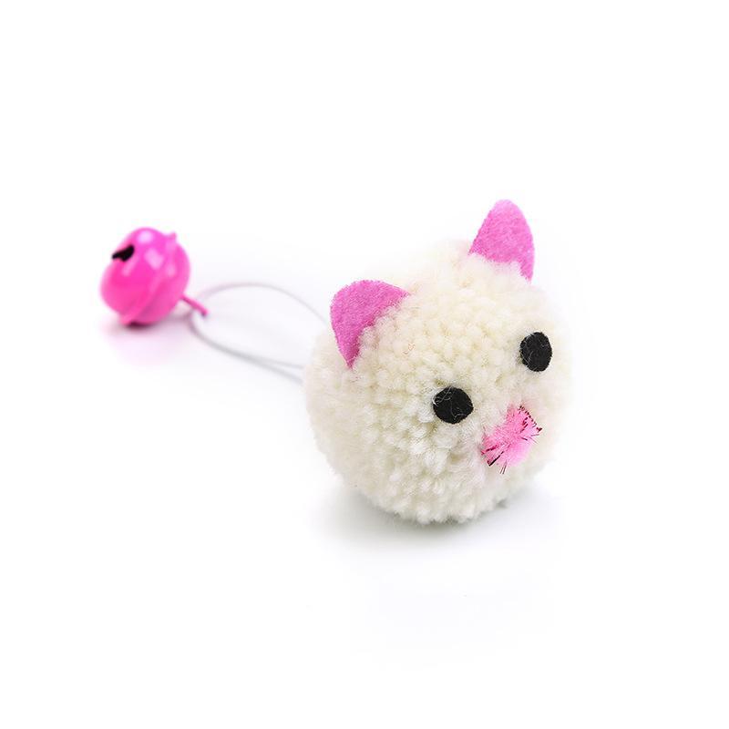 الماوس رئيس النمذجة القطط لعبة جرس صغير أفخم كيتي الحيوانات الاليفة اللعب التفاعل للاهتمام المواد الحيوانات الأليفة اللوازم مضحك 1 5cw m2