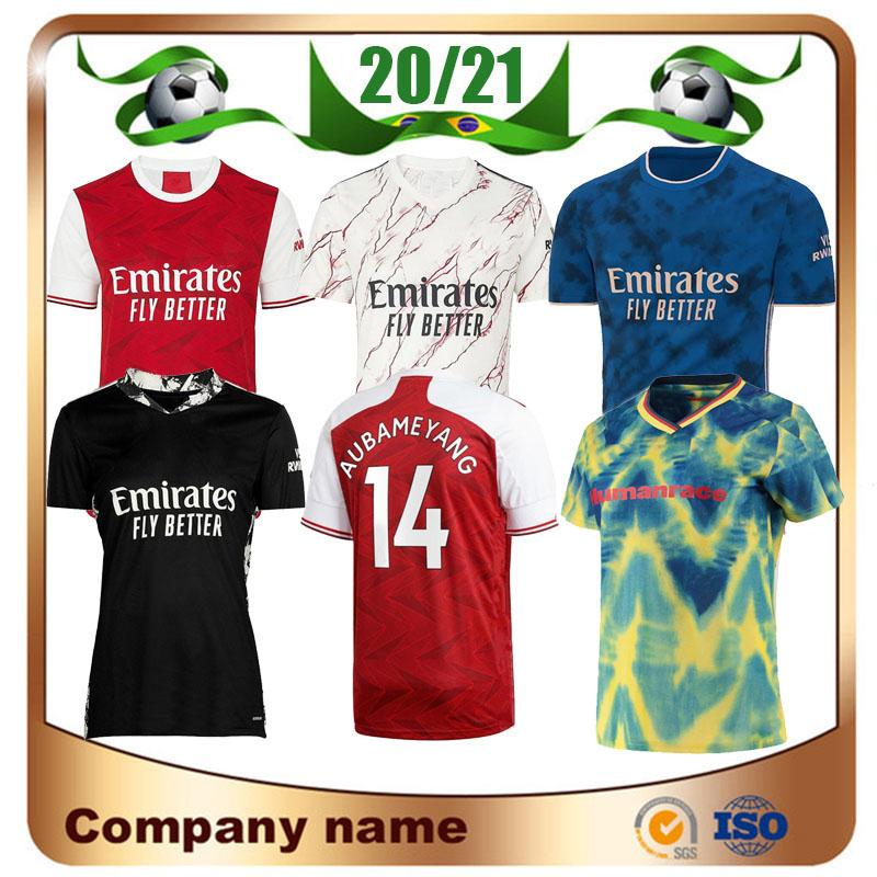 20/21 Gunners Home Soccer Jersey 2020 Pepe Nicolas Ceballos Henry Guendouzi Sokratis Maitland-Niles Tierney Футбольная рубашка Униформа