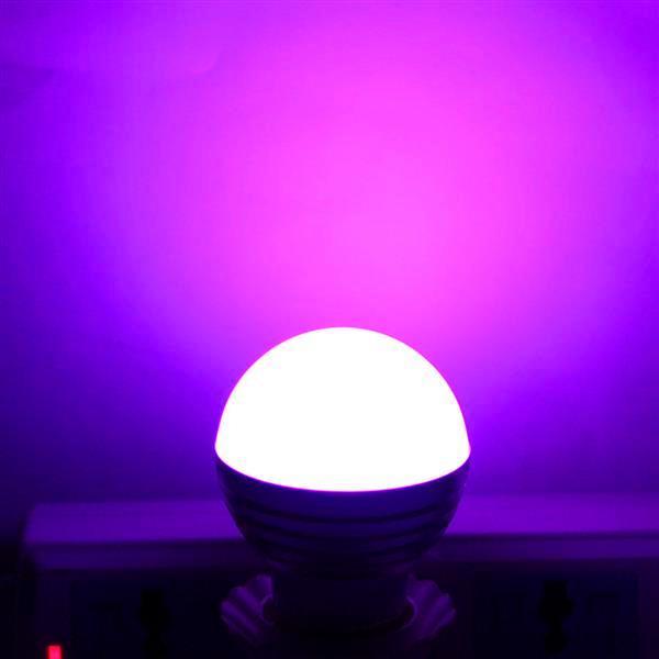 Лучший продавец E27 3W RGB LED Dimmable Light Belb 85-265V Офис лампочки Новые и высококачественные лампочки