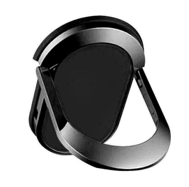 (3 PC) El soporte de anillo de teléfono móvil negro universal admite soporte de rotación magnético de 360 grados