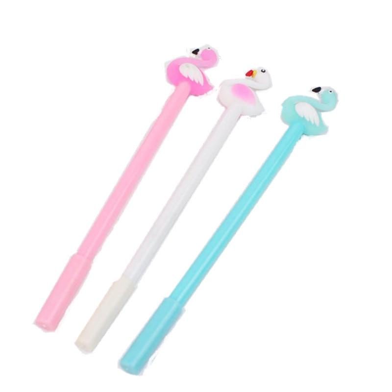 2021 new gift wholesale free shipping high quality hot sell Christmas gel pen cute creative stationery pen black cartoon swan shape pen