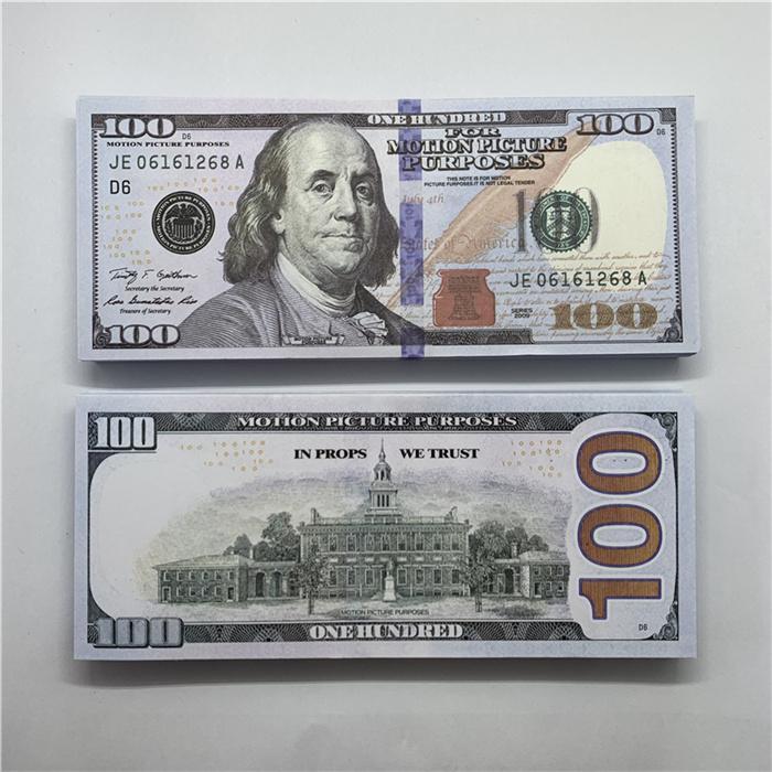 100 Tiro falsificado 1 Dinero y dinero Fake Dollar Billet Barra de Billet Atmosphere Fake Film Billet PROP LA-047 TV HOT XBHIJ MONEY BUTS WHANM