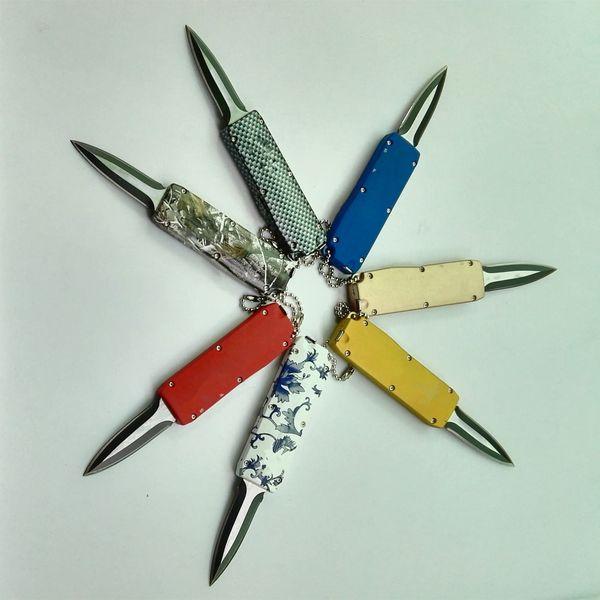 Mini Mini Pull Flail Facas 440 lâmina única ação keychain keychain faca de bolso de cetim fixo lâmina de natal lâmina para homem 3276