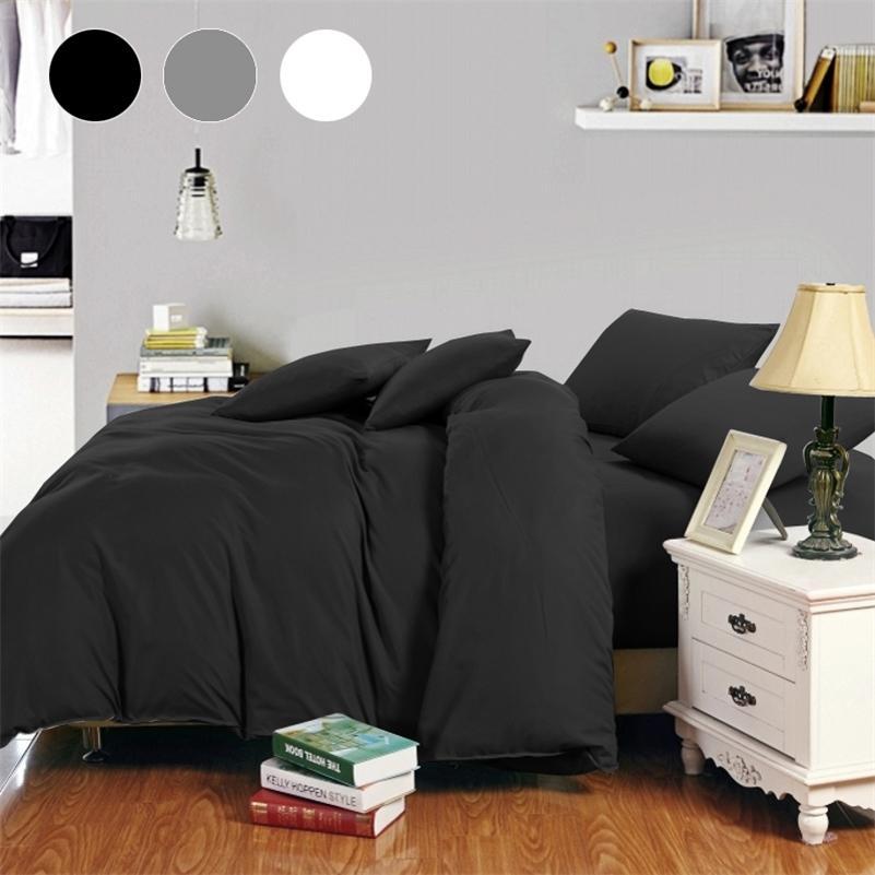 Россия Испания постельное белье набор 22 размера Европа Queen Double King Onow Dought Cover набор постельное белье набор белый черный серый постельное белье LJ201127