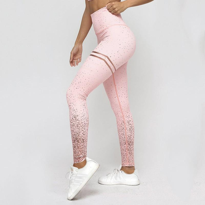 Jambières de yoga Sport Femmes Femmes Pantalons Jogger Pantalons Femmes Mesdames Push Up Collants imprimés Sports Outfit JEGGINGS SPORTSWEAR Collants x1227