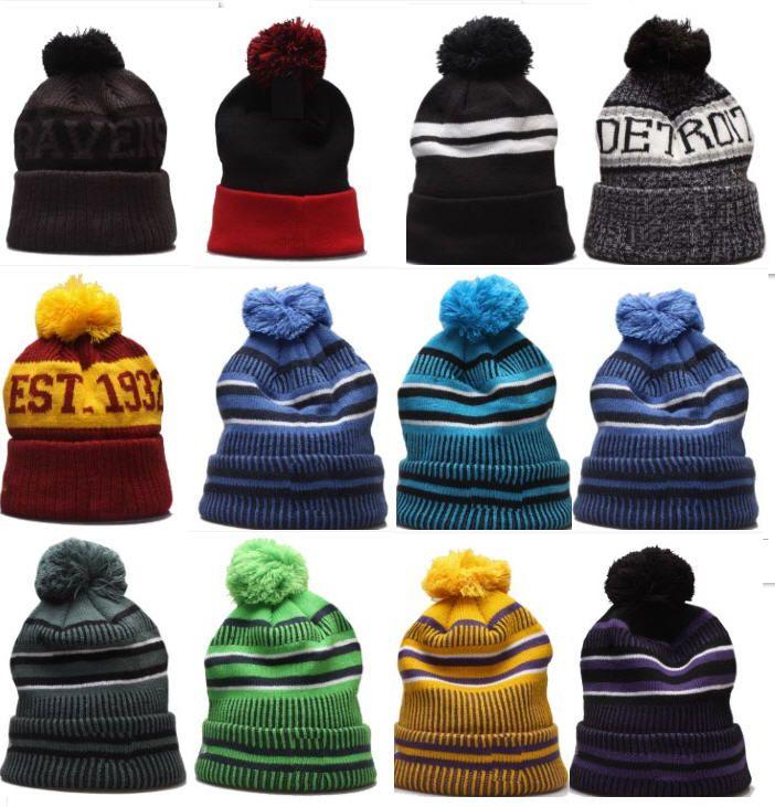 Toptan Kış Beanie Örme Şapka Spor Kış Kasketleri Kadın Erkek Popüler Moda Kış En Kaliteli Şapka 10000 + Stilleri Şapka