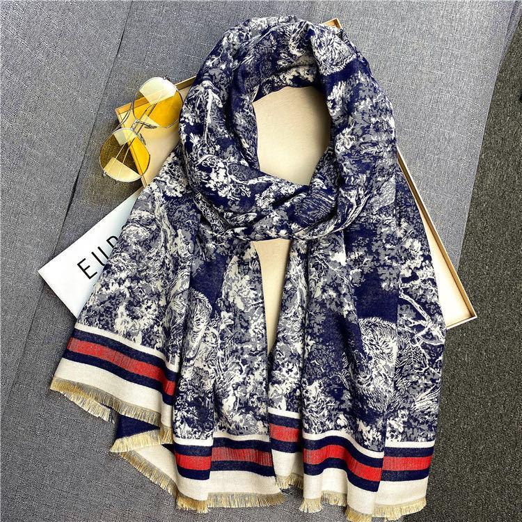 Moda Winter Lenço Mulheres Cashmere Pashmina Quente Pashmina Foulard Lady Tigre Scarves Grosso Soft Bufanda Shawls Wraps 2020 Novo J1215