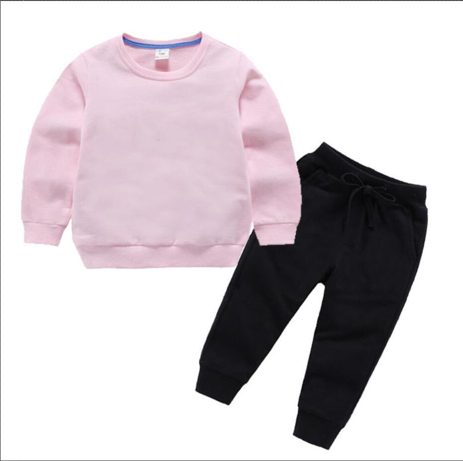 2021 Logo Brand Brand Designer Designer Baby Autunno Vestiti Set Kids Boy Girl Manica Lunga Felpa con cappuccio e Pantaloni 2PCS Suits Moda Tracksuits Abiti