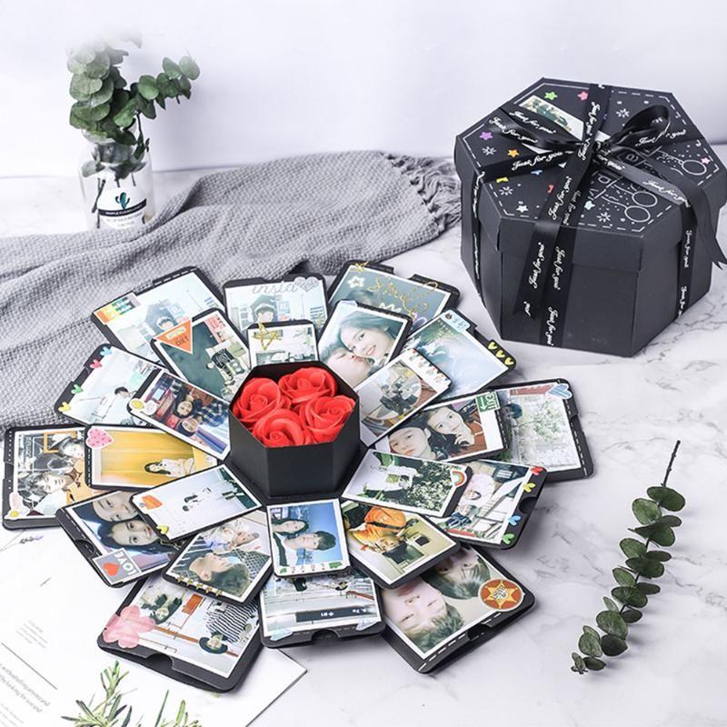DIY Scrapbook Foto Überraschung Partylove Explosionsbox Geschenk zum Geburtstag Geburtstag Valentinstag Geschenk mit Verpackungskasten