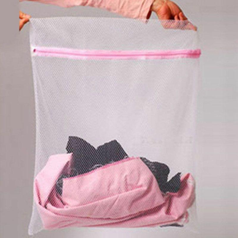 100 قطع 30x40 سنتيمتر حجم الملابس الملابس غسل المساعدات الصافي شبكة سستة غسل حقيبة التوقف الملابس الداخلية المنزل