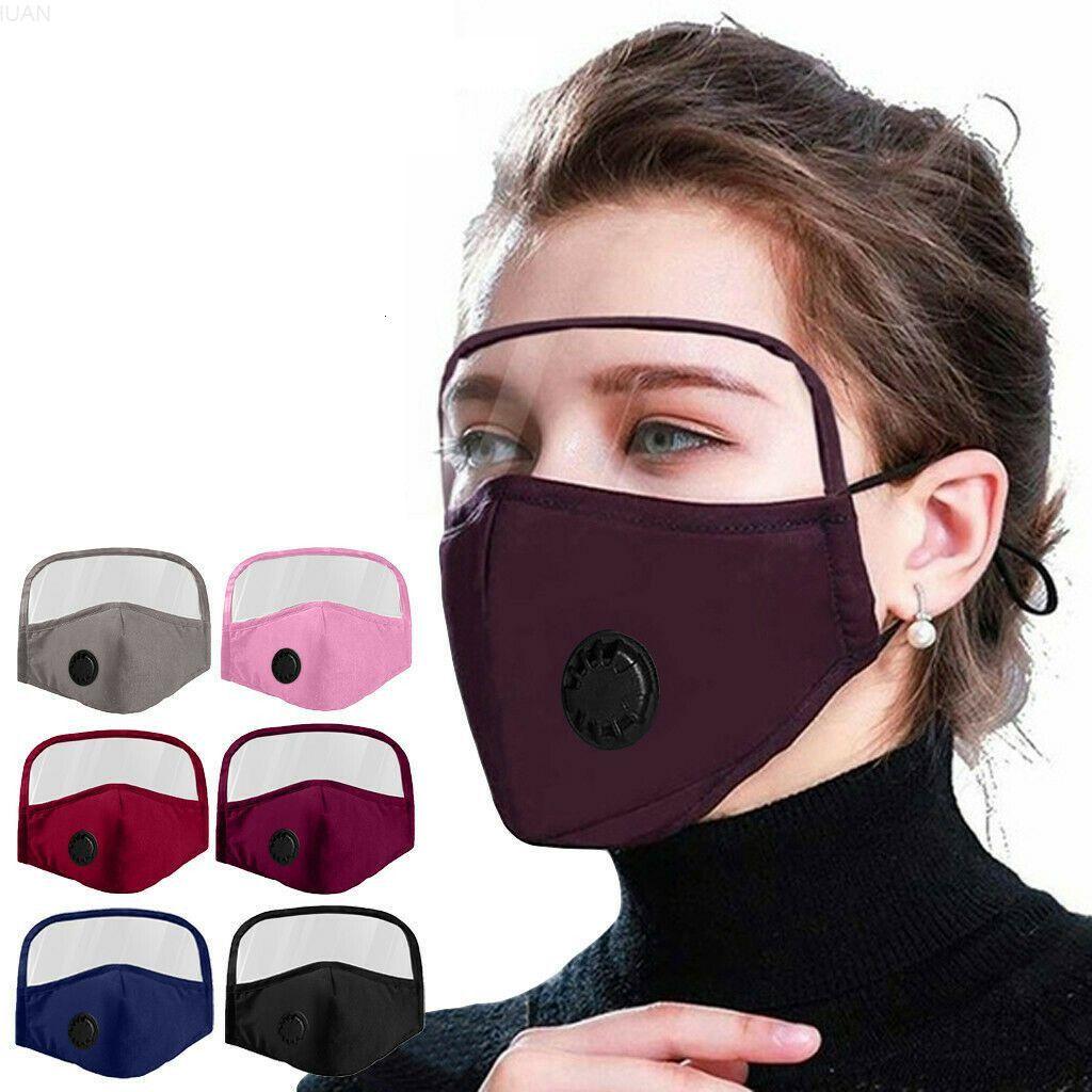 Ojo gge2093 lavable escudo cara cara polvo a prueba de polvo con escudo en la válvula de algodón máscara reutilizable máscara máscara cara ciclismo 1 máscara protectora 2 wlmmf