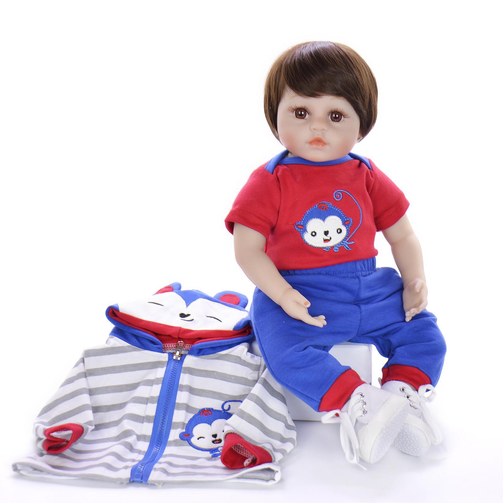 Keiumi Simulación de silicona Reborn Muñecas tan verdaderamente como Newborn Babies Doll para Boy o Girl Kid Cumpleaños Regalos Soft Vinyl Play Toy Q1124