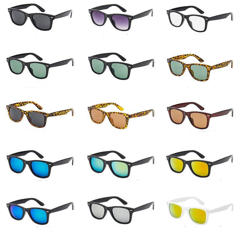 أعلى جودة 28 ألوان في الأسهم النظارات الشمسية الفاخرة UV400 حماية الرياضة النظارات الشمسية للجنسين عدسات في الهواء الطلق تأتي مع حقيبة جلدية، قماش، مربع