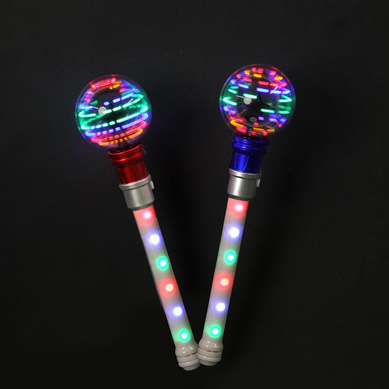 Light Stick 12 16 luci rotonde a sfera a sfera a farfalla rotazione colore flash lampada a cerchio cerchio vocale concerto luminescenza bacchetta magica bambini giocattoli 8 8zh P1