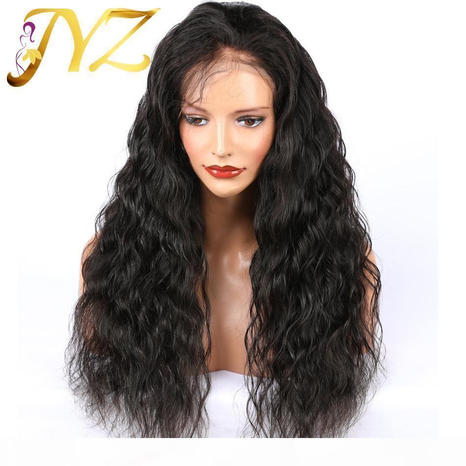 13x4 Dantel Ön İnsan Saç Peruk Gevşek Derin Dalga Dantel Peruk Orta Oranı Brezilyalı Remy Saç Peruk Siyah Kadınlar Için