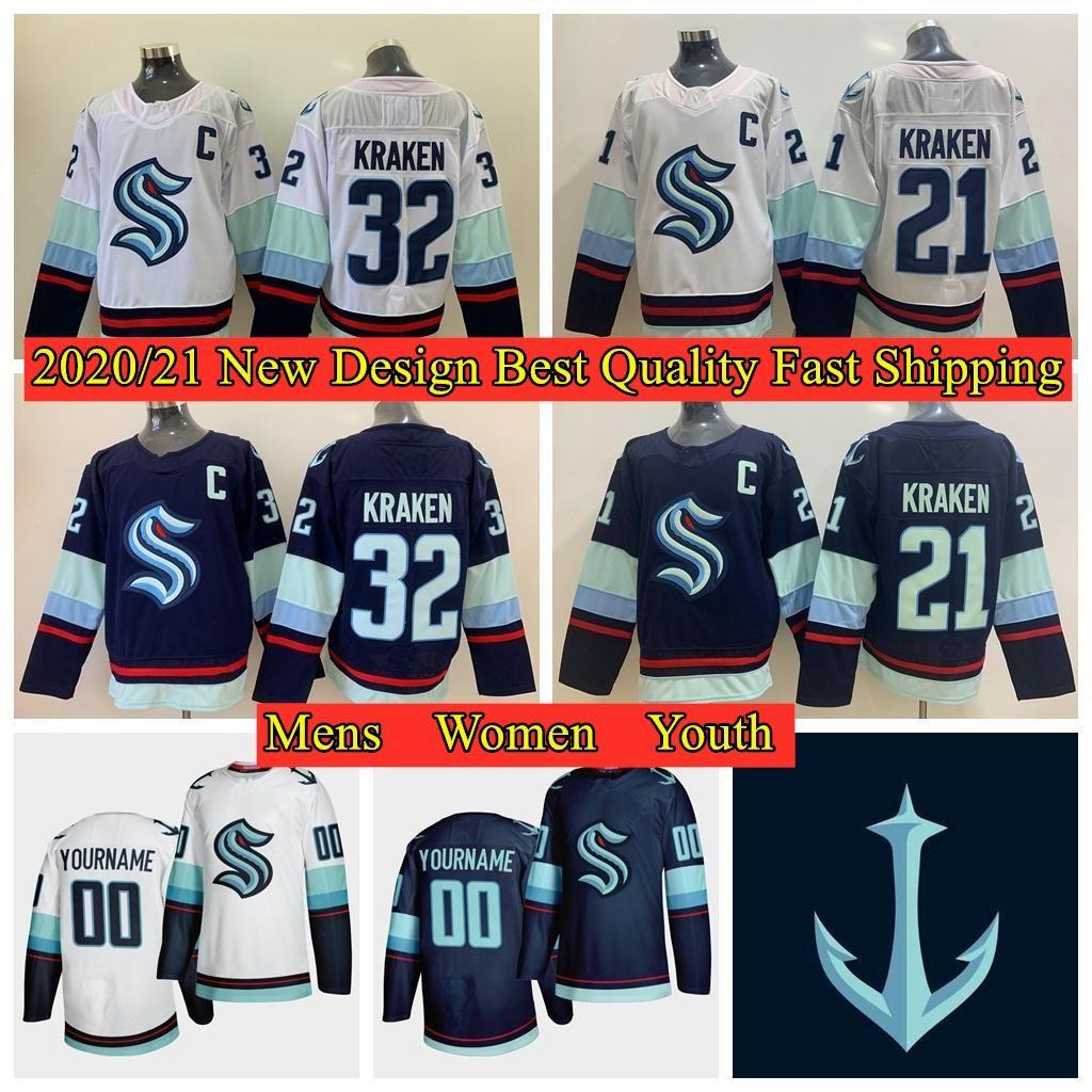 2021 Seattle Kraken Jersey 32th Kraken New Team Hockey ...