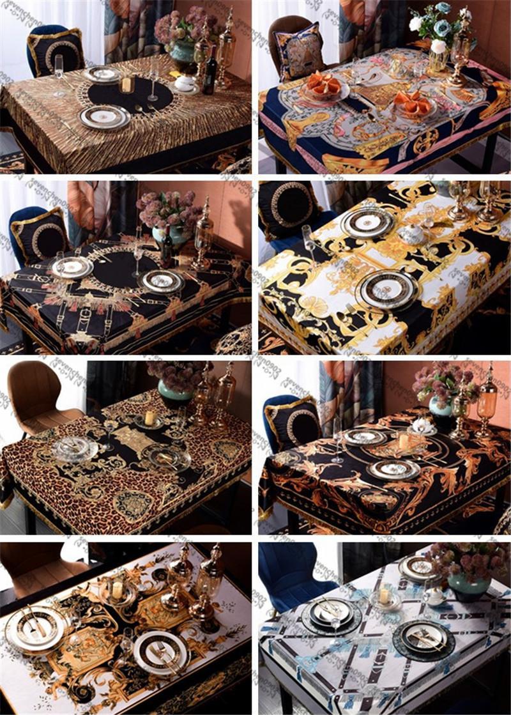 Palace Series Столовая ткань Антифоулинг Нефтепродукты Водонепроницаемый Нескользящий Стол Скатерть Главная Отель Ресторан Бар Пикник Дизайнерская Столовая Ткань