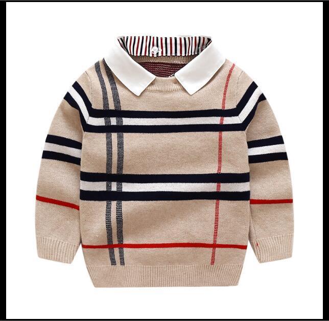 2020 nuovo autunno ragazzo maglione a righe bambini maglieria in cotone pullover bambini top moda tuta sportiva bambini maglioni bambini abbigliamento