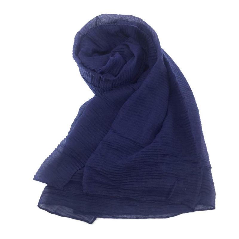 Muslimische Frauen Hijabs Solid Wrap Scal Furnled Plus Foulard Lady Schals für Strand Sonnencreme