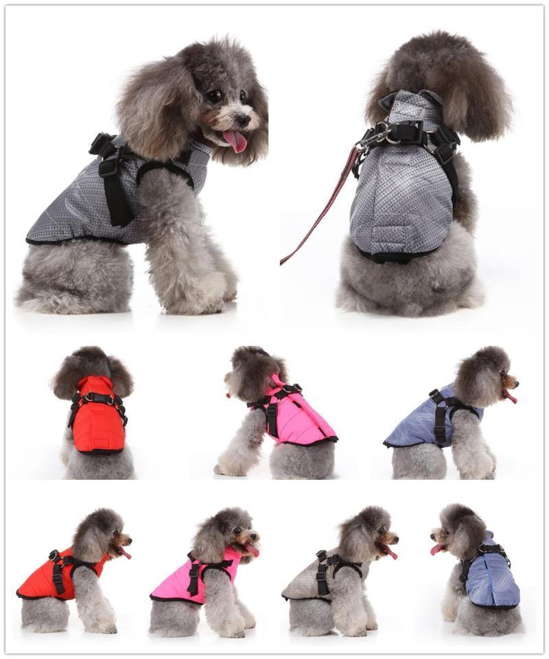 Kış Pet Köpek Giysileri Sıcak Ceket Pet Köpek Kış Ceket Küçük Elbise Sıcak Ceket Yavru Kıyafet Ceket