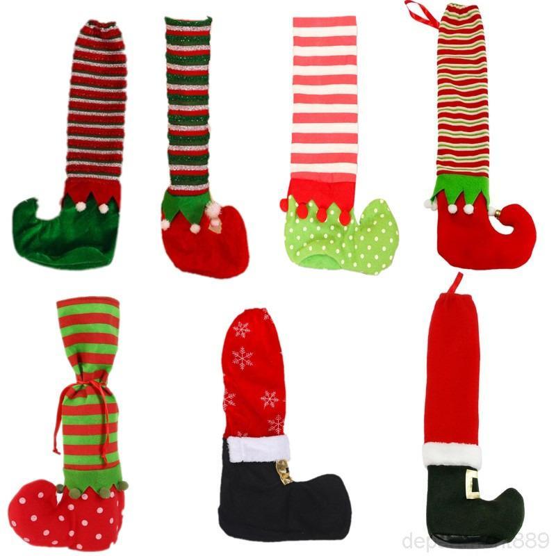 Nestino antiderrapante Papai Noel cadeira pé meias mesa pernas tampa ornamento para natal natal Navidad ano novo festa decoração fonte dhf744